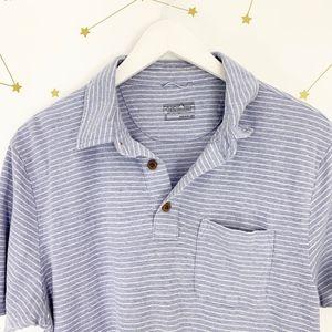 Patagonia Shirts - Patagonia • Trail Harbor Polo Shirt Blue Stripe